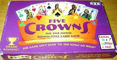 AU10.29 • Buy FIVE CROWNS 5 Suited Rummy Style CARD GAME 100% COMPLETE & IN PERFECT CONDITION!