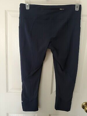 $ CDN60.75 • Buy Lululemon Women's Size 10 Crop Leggings Navy Blue