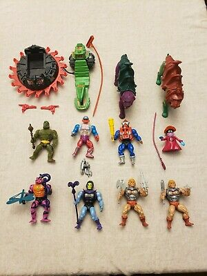 $79 • Buy Vintage He-Man Masters Of The Universe Lot 10 Figures, 2 Vehicles, Accessories!