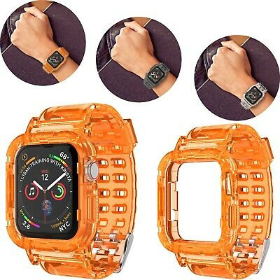 $ CDN7.24 • Buy For Apple Watch Series SE/6/5/4/3/2 Clear TPU Silicone Case Brands 44/42/40/38mm