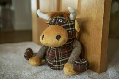 £10.99 • Buy Highland Cow Fabric Door Stopper Tartan Home Decor Weighted Wedge Stop Novelty