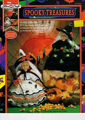 £9.99 • Buy Fibre Craft Crochet Pattern Spooky Treasures Air Freshener Witch Cover FCM426