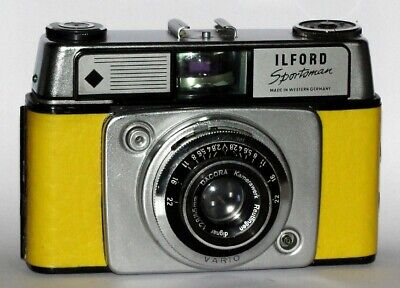 Vintage Ilford Sportsman Style 4. Yellow Imitation Leather Covered • 19£