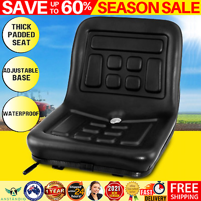 AU100.28 • Buy Tractor Seat Replacement Chair Forklift Excavator Mower Universal PU Leather