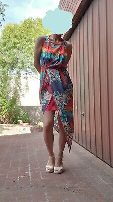 AU50 • Buy Alice McCall Silk Drape Dress Tropical Birds Size 6 Summer EXCELLENT CONDITION
