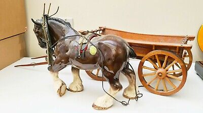 Vintage Melba Ware Shire Horse And Cart • 500£