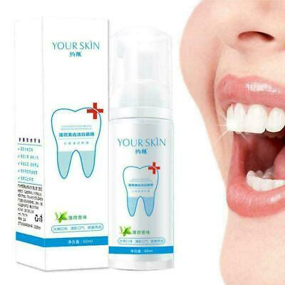 Teeth-Cleaning Whitening Mousse Toothpaste Removes Plaque Q8O1 Stains K0N6 • 3.18£