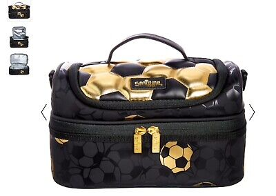 $ CDN35.26 • Buy New Smiggle Football Gold Double Decker Lunch Box Bag With Strap