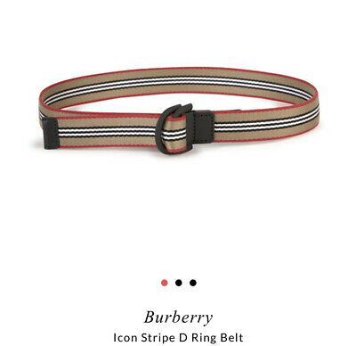 Burberry Icon Stripe Heritage Canvas D Ring Belt S M RRP£268 • 8.55£