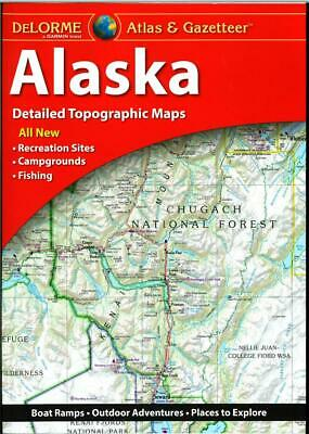 Delorme Alaska AK Atlas & Gazetteer Map Newest Edition Topographic / Road Maps • 19.79£
