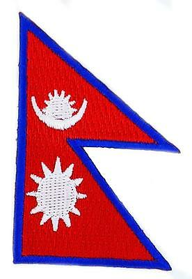 Patch Embroidered Patch Flag Nepal Hat And Mitten Set Thermoadhesive • 2.23£