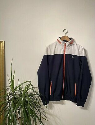 Rare Sport Blue And White Lacoste Tracksuit Jacket Medium FR4 • 29.99£