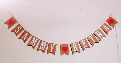 Wedding/Anniversaries/Proposal Day/lovers Day Personalised Named Bunting Banner  • 5.99£