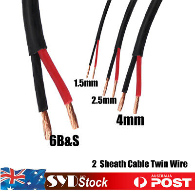 AU18.99 • Buy 6BS 4mm 2.5mm 1.5mmm Cable 2 Sheath Car Truck Caranvan Ute 4WD Battery Twin Wire