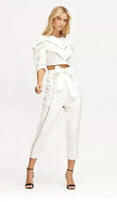 AU99 • Buy Alice McCall Foreign Affair White Cropped Pants With Belt AU 6 US 2 EU 34 RP$295