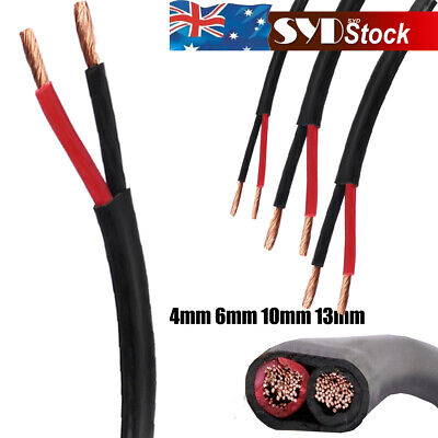 AU75.95 • Buy 4mm 6mm 10mm 13mm Twin Core Wire Boat Vehicle Battery Electrical 2 Sheath Cable