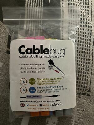 £3.50 • Buy Cablebug Sticker Sheet- To Be Used With Cable Labels (Small And Large)