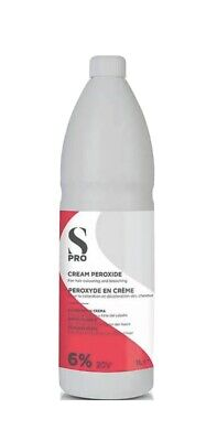 Peroxide 6%/20V 1L Cream S/S  For Professional Hairdressing Hairdressers   • 6.50£