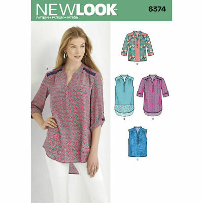 NEW LOOK Sewing Patterns~6374 Misses Women Ladies Plus Shirts 10-24 • 8.68£