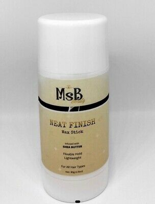 MsB Neat Finished Styling Hair Wax Stick For Men And Women Hair Wax Stick 80g • 12.99£