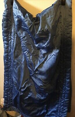 Jeff Banks Ports Of Call Design Blue Satin Double Bed Runner • 8£