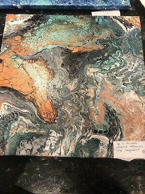 Original Abstract Sea Scape Painting • 10£
