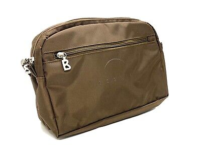 AU39.78 • Buy BOGNER Brown Toiletry Travel Accessories Bag Pouch Nylon