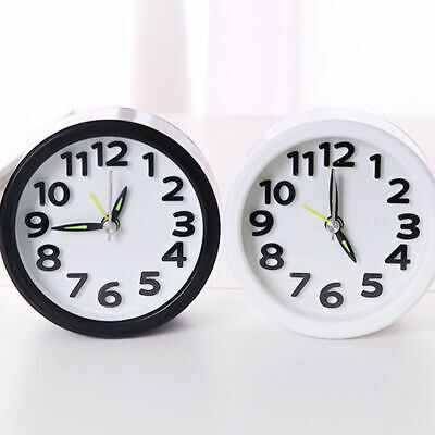 AU14.99 • Buy Silent Quartz Alarm Small Clock Battery Operated Bedside Bedroom Snooze Wake Up