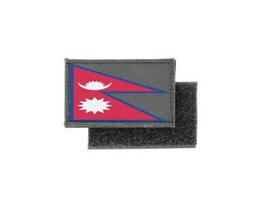 Patch Printed Badge Flag Nepal Hat And Mitten Set • 3.86£