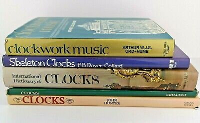 Clocks, Clockmaking Selection Of 5 Vintage Books - Good Lot, Gift Idea, Skeleton • 24.99£