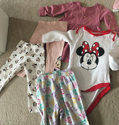 Baby Girls Clothes 9-12 Months Minnie Mouse Bundle • 2£