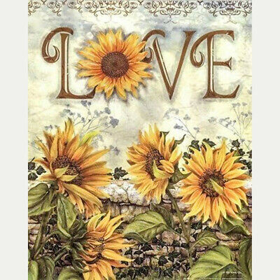 AU10.10 • Buy 5D Full Drill Diamond Painting Sunflower Love Cross Stitch Kits Home Decor New