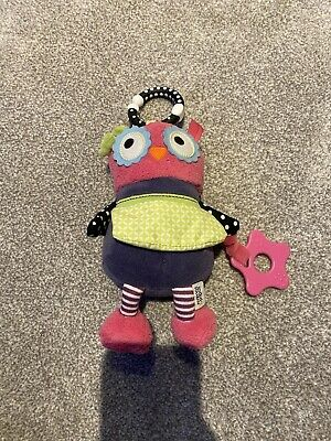 Mamas & Papas Activity Pushchair Baby Travel Chime Toy - Olive Owl • 1.50£