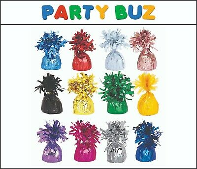 £6.99 • Buy Pack Of 1 /6/12 Foil Balloon Weights Latex Helium Party Balloons Decoration