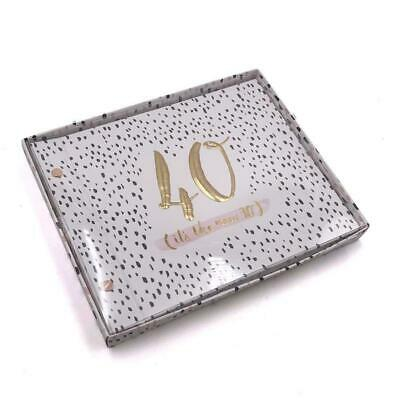 £13.99 • Buy Luxe Rose Gold 40th Birthday Guest Book And Photo Album Party Memories