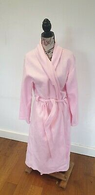 Ladies Pink Fluffy Dressing Gown Robe Lounge Wear UK Large  • 2£