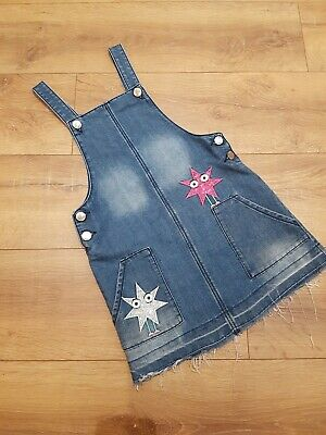 Girls Denim Dungaree Pinafore Dress Age 6-7 Excellent Condition • 1.50£