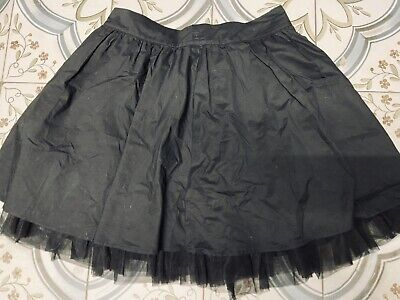 Ladies Gothic Emo Black Skirt With Netting Size 14 • 1.99£