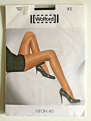 GLOSSY WOLFORD NEON 40 SHIMMER TIGHTS PANTYHOSE In MOCCA SIZE - XS BNWT  • 19.99£