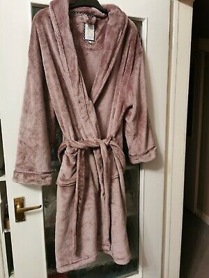 Lounge & Sleep At Debenhams Soft Touch Long Length Dressing Gown Size 20 - 22 • 10£