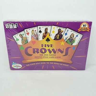 AU16.67 • Buy Set Enterprises FIVE CROWNS 5-Suited Rummy-Style Card Game Factory Sealed