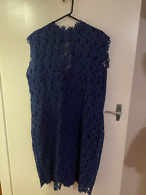 AU25 • Buy ASOS Curve Paperdoll Blue Lace Dress Size 24