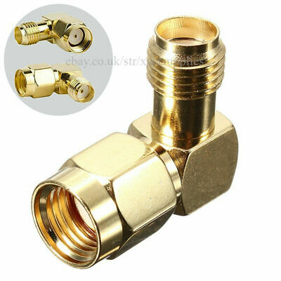 £3.69 • Buy 2pcs SMA RP-male To Female Adapter 90° Right Angle RF Coax Jack Plug Connector