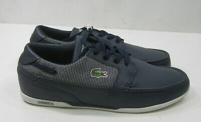 Lacoste Dreyfus BLUE Moc Leather MEN Shoes Size 8,8.5 (not Same Size Pair) • 33.69£