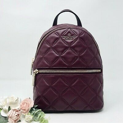 $ CDN149.13 • Buy NWT Kate Spade Natalia Mini Convertible Leather Backpack Cherrywood New