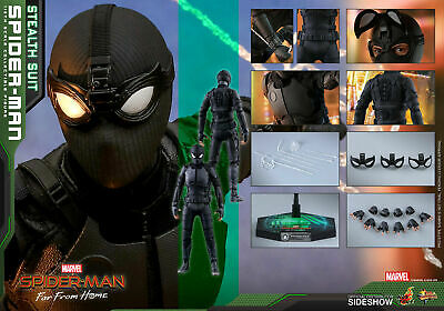 $ CDN166.49 • Buy Hot Toys Marvel Far From Home STEALTH SUIT SPIDER-MAN 1/6th Scale Figure MMS540