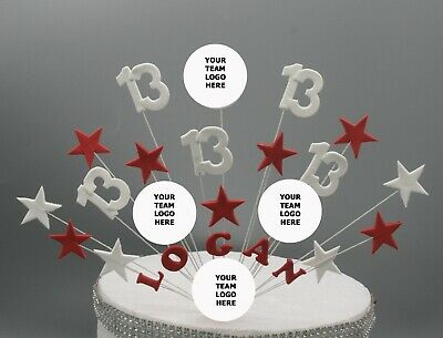 Liverpool Football Birthday Cake Topper Any Age Colours Stars On Wires 009 • 16.99£