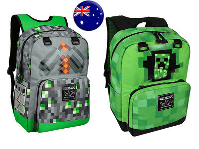 AU39.95 • Buy JINX Minecraft Official Childrens Kids Large Creeper Backpack School Bag AUS