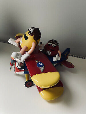 Red & Yellow M&M's Barnstorming Bi-Plane World Exclusive Candy Sweet Dispenser • 9.99£