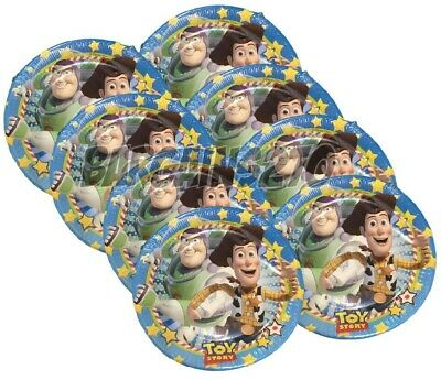 8 Pack Of Disney Birthday Toy Story 2,3,4 Paper Kids Party Plates Buzz Woody NEW • 2.49£